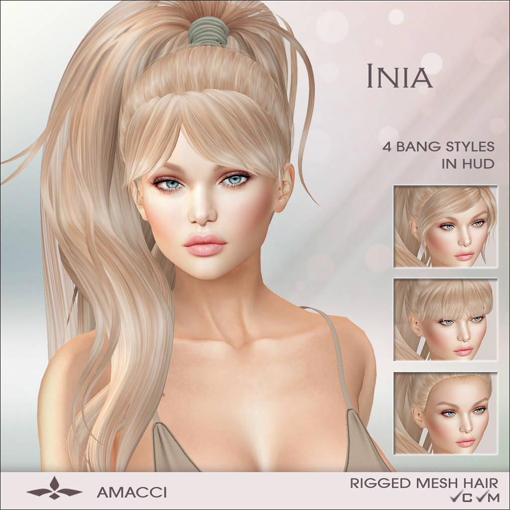 Amacci Hair - Inia - SecondLifeHub.com