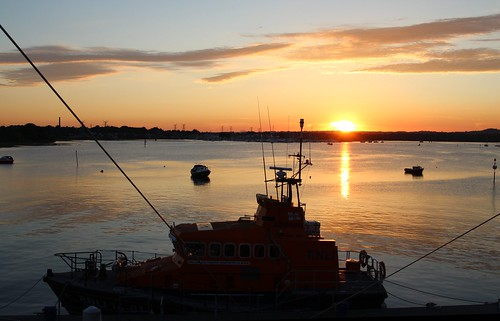 rnli college poole hotel charity lifesaving harbour sea lifeboat british england summer sunset rescue nightwatch trentclass earlandcountessmountbattenofburma