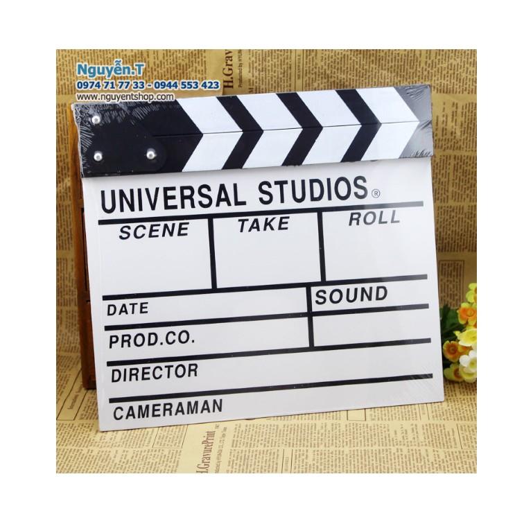 Bảng đạo diễn scene cut Universal Studios clapper board gỗ
