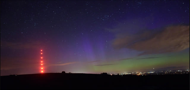 Caldbeck Cumbria Northern lights