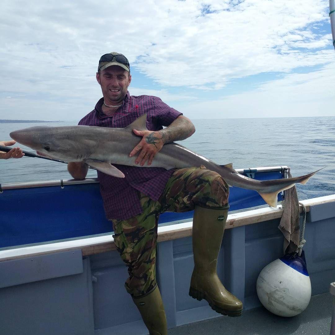 Nick and his 35lb 6oz tope #amarisaweymouth #tope #fishingtrip #fishinguk