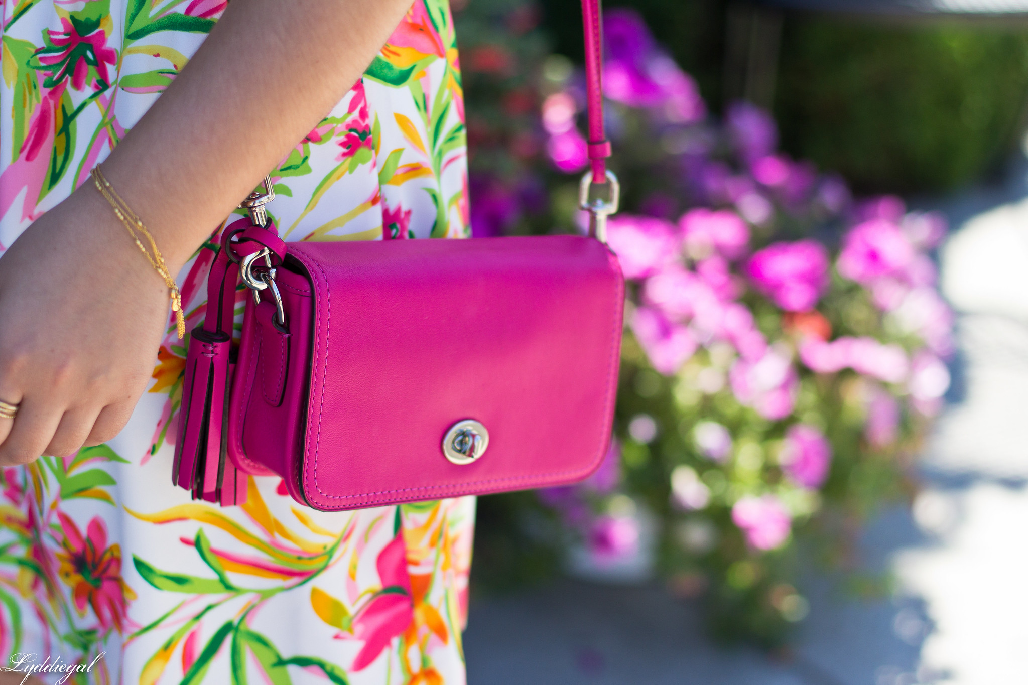 floral cami dress, pink coach bag, platform espadrilles-3.jpg