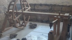 Fontenay Abbey - The forge - waterwheel and hydraulic hammer model - HD video clip