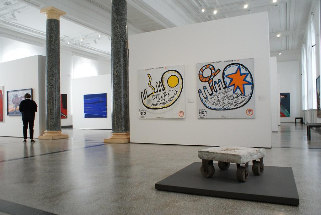 Art moderne dans le musée national d'art de Riga en Lettonie.