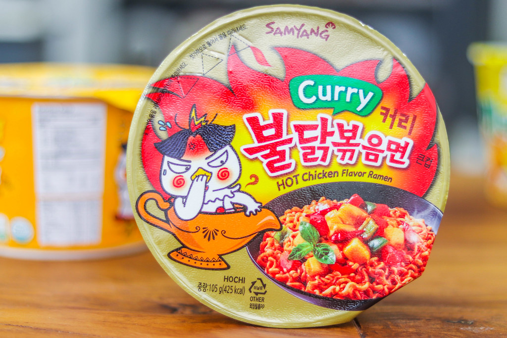 Korean Spicy Noodles Challenge: SAMYANG CURRY HOT CHICKEN FLAVOUR