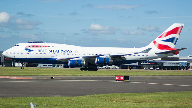 G-CIVS - British Airways 747 @ Cardiff Airport 010717