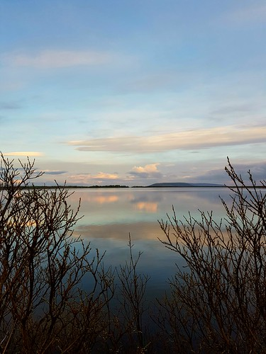 lake laugarvatn iceland clouds sky sunset water reflection oeiriks