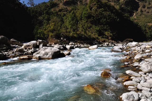Ramganga river hurtling down!