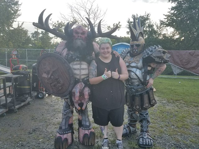 Cindy interviewing Gwar
