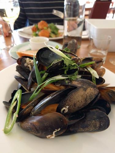 mussels @ Dornoch Castle