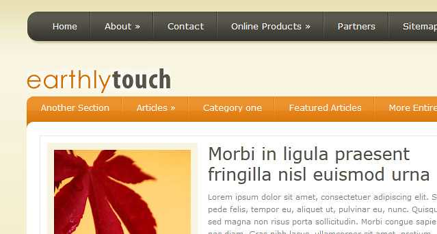 EarthlyTouch WordPress Theme free download
