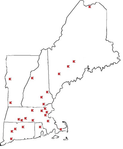 Current New England Kmart Stores (as of June 2017)
