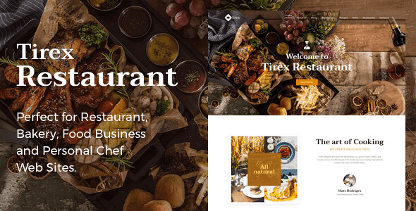 Tirex Restaurant WordPress Theme free download