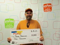 Todd Harding - $1,000 - Pick 3 - Meridian - Fast Eddys #001