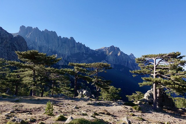 View of the Aiguilles de Bavella