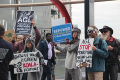 FFFArk AGL: protest calls out AGL's pollution greenwash