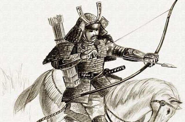 samurai segurando yumi