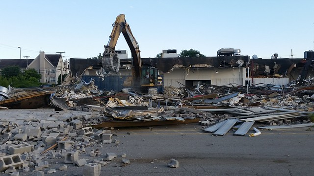 Former Kmart being demolished.
