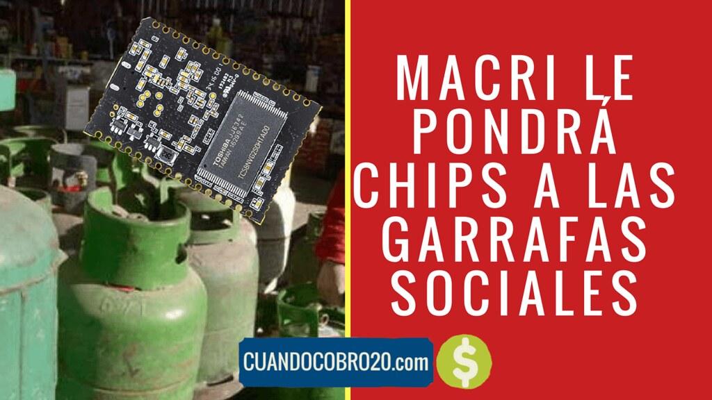 Garrafas Sociales con chip