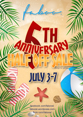 Faboo's 6th Anniversary sale!