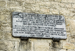 Photo of Stone plaque number 43350