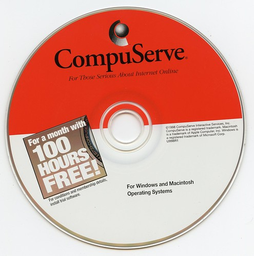 CompuServe - For Those Serious About Internet Online - 100 Hours Free (U998R1)(1998)