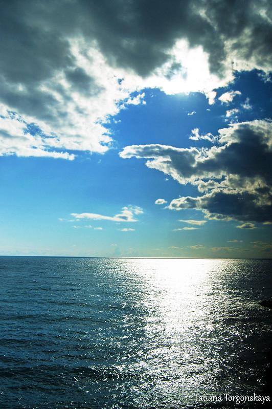 Пейзаж в облачный день