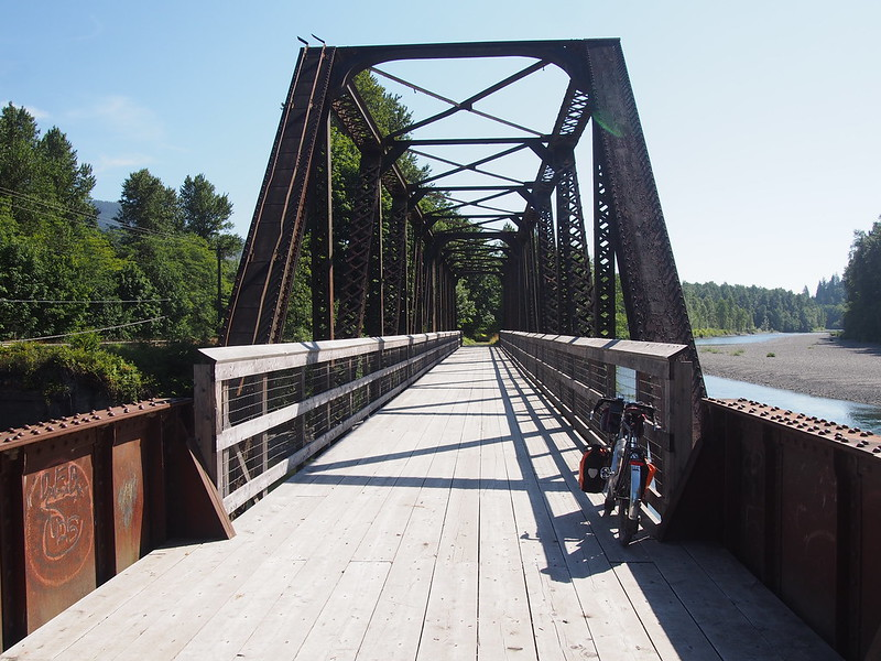 Whitehorse Trail Bridge: The trail isn't really open for use out here.