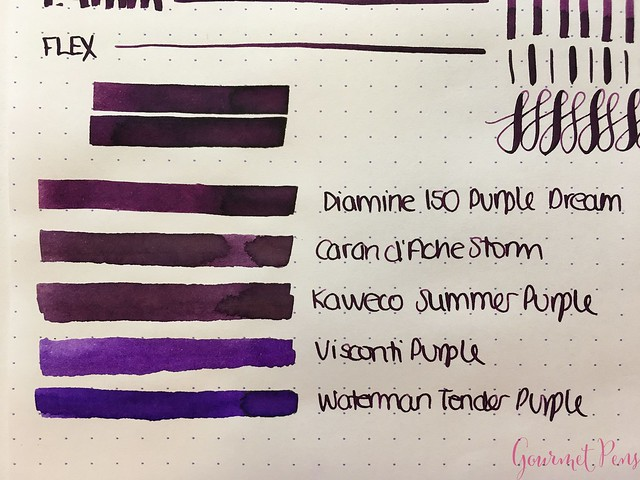 Ink Shot Review Diamine Anniversary Purple Dream @AppelboomLaren 4