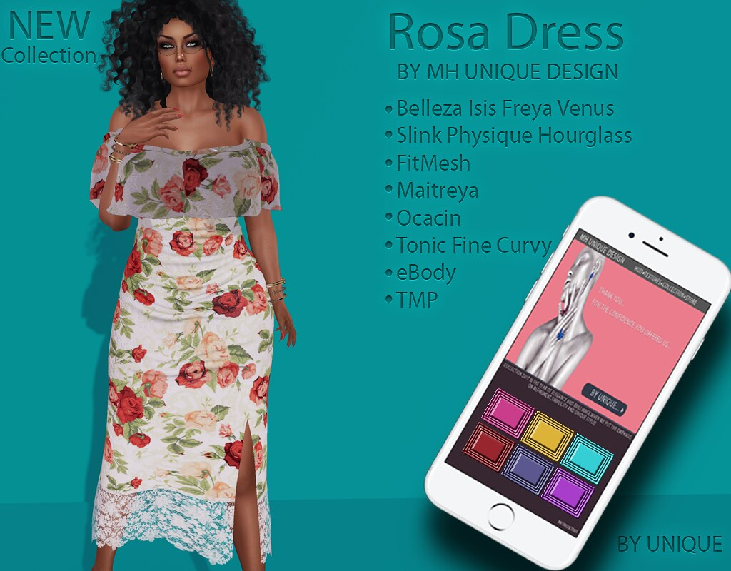 MH-Rosa Dress Collection - SecondLifeHub.com