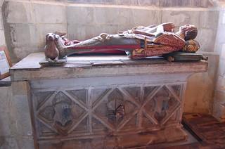 Goudhurst, St Mary's church, wooden effigy of Sir Alexander Culpeper