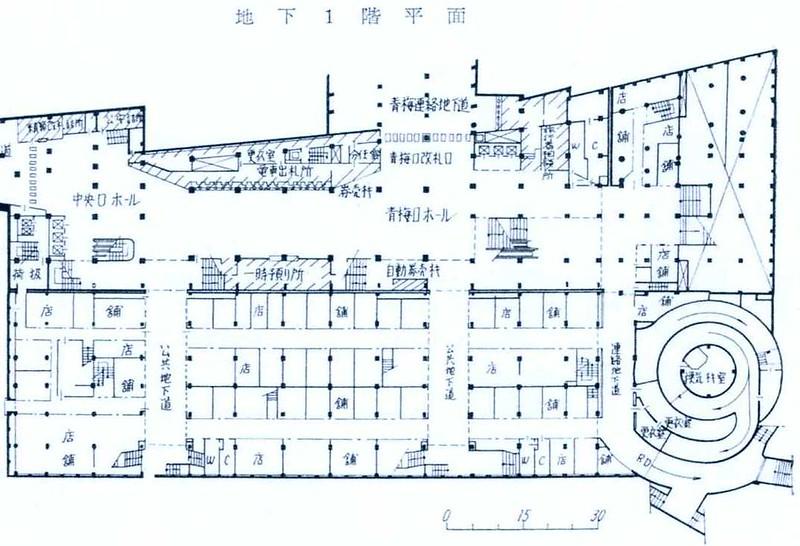 西武鉄道新宿駅 ルミネ(マイシティ)乗り入れ計画図面 (3)