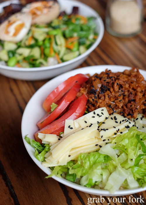 Vegan taco rice at Manmaru Japanese bakery cafe in Dulwich Hill Sydney