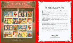 Circus Stamps, US Postal Service