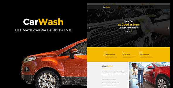 Car Wash WordPress Theme free download