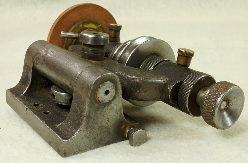 Sold Antique Belt Driven Bench Grinder W Oilers
