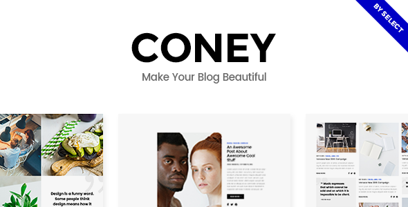 Coney v1.1 - A Trendy Theme for Blogs and Magazines