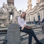 Emily in Piazza Navona