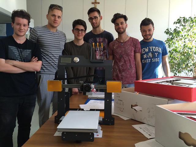 studenti ITIS stampante 3D
