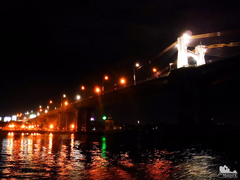 Marcelo Fernan Bridge at night