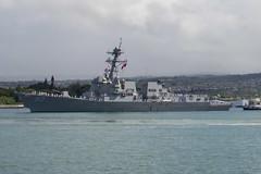 USS Chafee (DDG 90) departs Pearl Harbor, June 13. (U.S. Navy/MC2 Katarzyna Kobiljak)