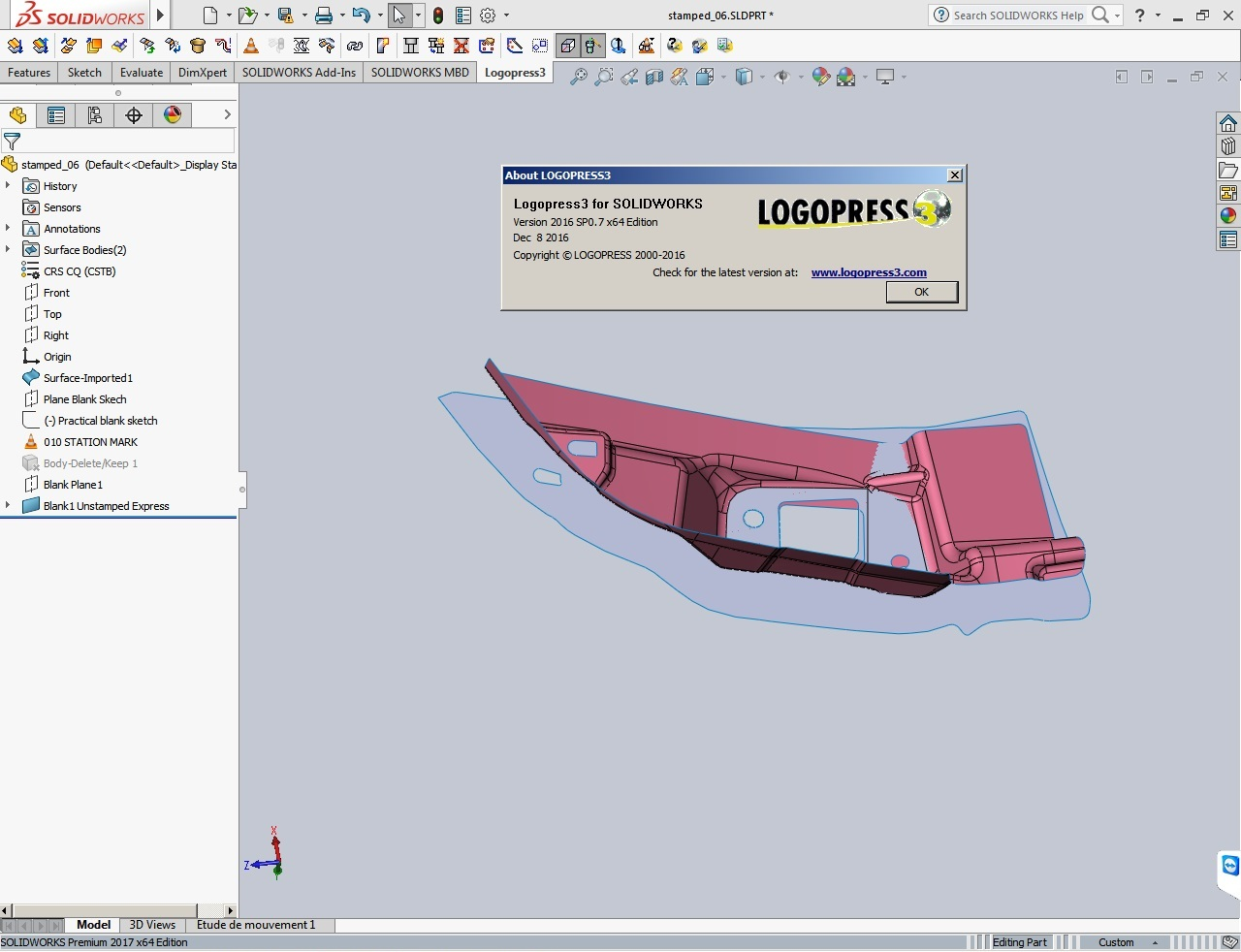 Design with Logopress3 2016 SP0.7 for SolidWorks 2014-2017 x64 full crack