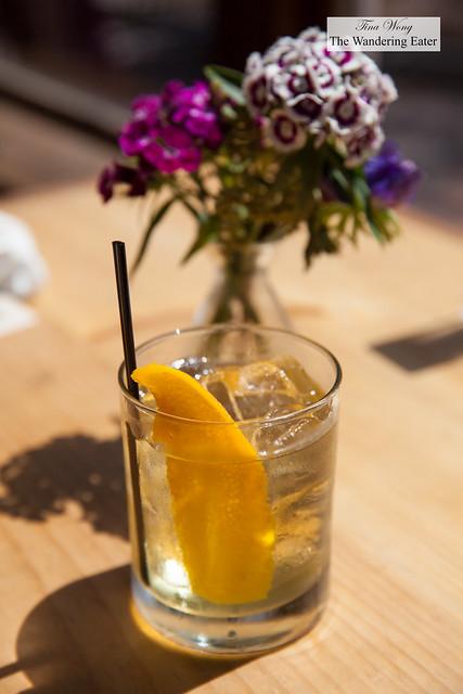 Sonny's Milk Punch - whiskey, sherry, lemon, orange juice, maple, black tea, persimmon, ginger, and arbol