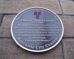 Photo of Edward Corvan black plaque
