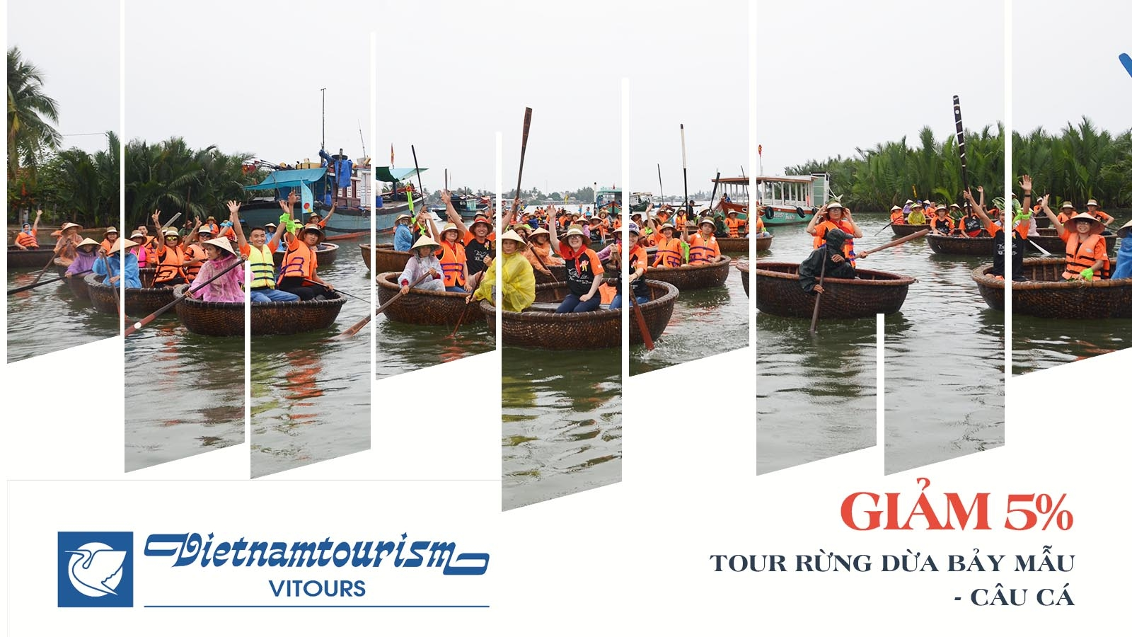 Vitours giảm 5% Tour Rừng dừa Bảy Mẫu - Câu cá 2