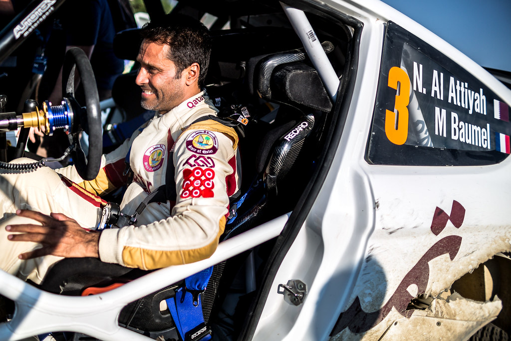 AL ATTIYAH Nasser (qat) and BAUMEL Matthieu (fra) NASSER AL-ATTIYAH FORD FIESTA R5 ambiance portrait during the 2017 European Rally Championship ERC Cyprus Rally,  from june 16 to 18  at Nicosie, Cyprus - Photo Thomas Fenetre / DPPI