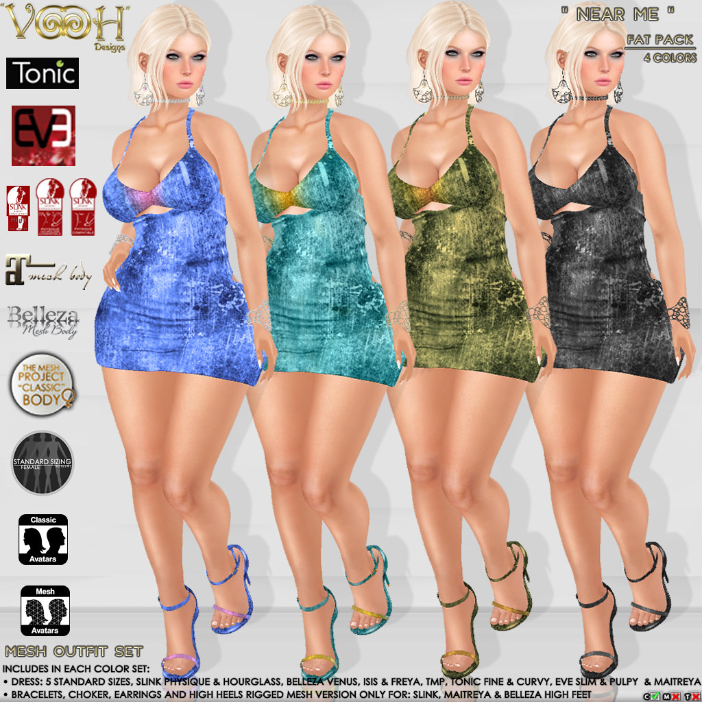 """ VOOH "" NEAR ME MESH OUTFIT SET - SecondLifeHub.com"
