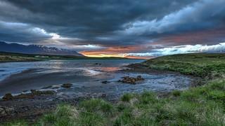 Eyjafjörður in the Midnight Sun
