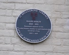 Photo of Ralph Hedley black plaque
