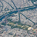 The Eiffel tower, Paris, seen from above